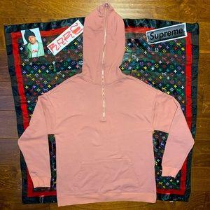 Full Zip Gimp Jacket Style Hoodie peach color